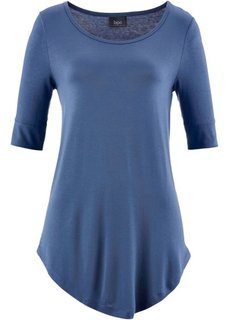 Удлиненная вискозная футболка (индиго) Bonprix