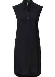 Блузка с разрезами (черный) Bonprix