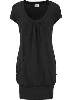 Платье для велнеса (черный) Bonprix