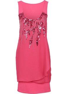 Платье с пайетками (светлый ярко-розовый) Bonprix