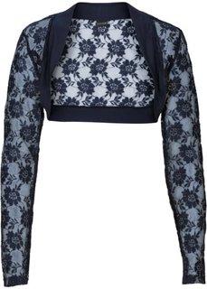 Кружевная куртка-болеро (темно-синий) Bonprix