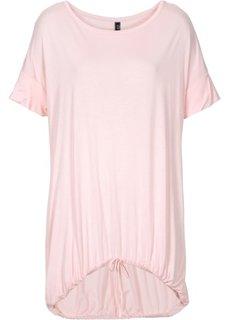 Футболка с эластичным поясом (дымчато-розовый) Bonprix
