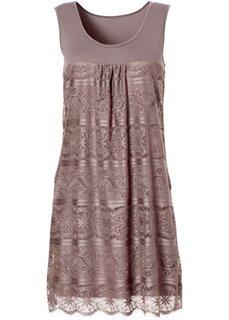 Трикотажное платье (бурый) Bonprix