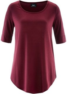 Удлиненная вискозная футболка (кленово-красный) Bonprix
