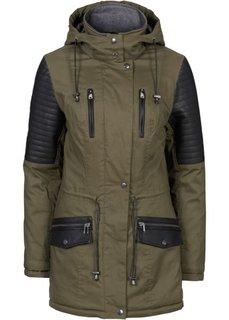 Куртка-парка (зеленый хаки/черный) Bonprix