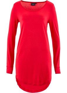 Удлиненная футболка с длинным рукавом (красный) Bonprix