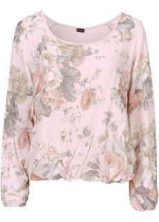 Романтичная блуза в цветочек (розовый в цветочек) Bonprix
