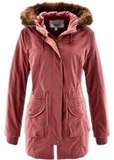 Куртка с опушкой из искусственного меха (бордово-коричневый) Bonprix