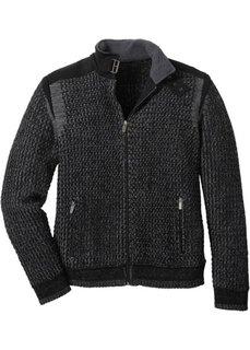 Кардиган Regular Fit (черный/дымчато-серый) Bonprix