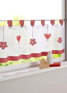 Кухонная штора Сердце, петли (красный) Bonprix