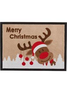 Коврик для двери Merry Christmas (коричневый) Bonprix