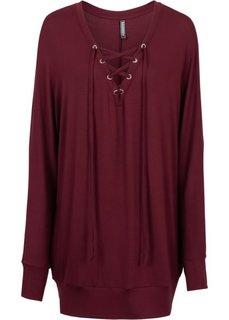 Обязательный элемент гардероба: вязаная футболка (темно-бордовый) Bonprix