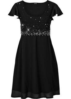 Шифоновое платье (черный) Bonprix