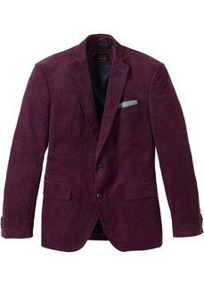 Вельветовый пиджак Regular Fit, cредний рост (N) (баклажановый) Bonprix