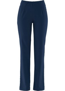 Прямые брюки стретч без застежки, низкий рост (K) (темно-синий НОВИНКА) Bonprix