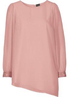 Шифоновая блузка (винтажно-розовый) Bonprix