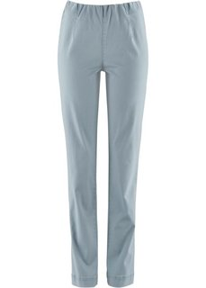 Прямые брюки стретч без застежки, cредний рост (N) (серебристо-серый) Bonprix