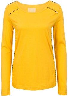 Сорочка с окантовкой (шафранно-желтый) Bonprix