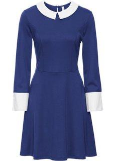 Платье (ночная синь/белый) Bonprix