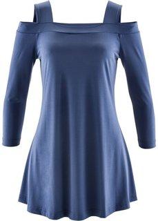 Удлиненная футболка ПРЕМИУМ (индиго) Bonprix