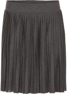 Плиссированная юбка (антрацитовый меланж) Bonprix