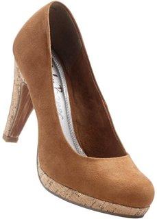 Туфли на платформе (коньячный) Bonprix