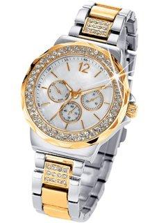 Часы Tiara в дизайне под хронограф (биколор/серебристый/золотистый) Bonprix