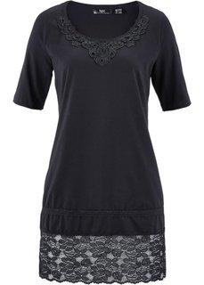 Удлиненная футболка (черный) Bonprix