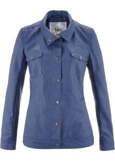 Куртка из искусственной кожи, на молнии и кнопках (индиго) Bonprix