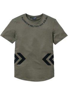 Длинная футболка Regular Fit (темно-оливковый) Bonprix