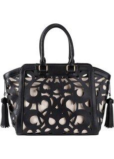 Ажурная сумка (черный) Bonprix