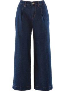 Широкие джинсы длины 7/8 (темный деним) Bonprix