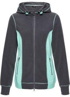 Флисовая куртка с длинным рукавом (шиферно-серый меланж) Bonprix