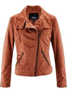 Куртка из искусственной замши (коньячный) Bonprix