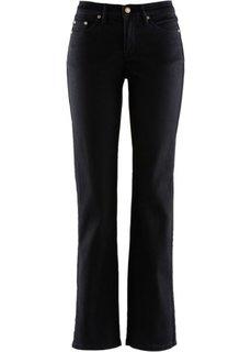 Стройнящие джинсы стретч, низкий рост K (черный твил) Bonprix