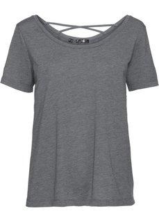 Футболка с коротким рукавом для легких видов спорта (серый меланж) Bonprix