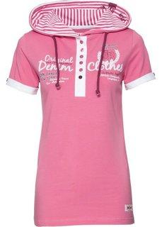 Футболка с капюшоном (ярко-розовый) Bonprix