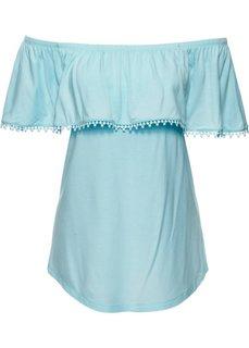 Трикотажная футболка с открытыми плечами (полярно-мятный) Bonprix