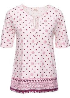 Трикотажная туника с принтом и рукавом 1/2 (нежно-розовый с рисунком) Bonprix