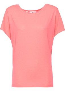 Спортивная футболка с коротким рукавом (лососевый неон) Bonprix