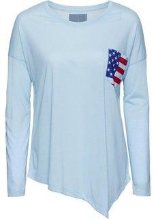 Футболка с карманом на груди (синий лед) Bonprix