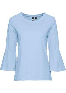 Классика гардероба: футболка с воланами (синий) Bonprix