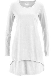 Удлиненная футболка с длинным рукавом (цвет белой шерсти) Bonprix