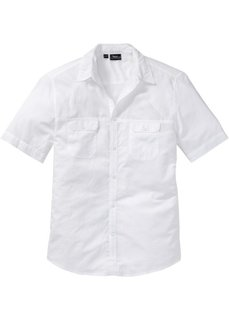 Рубашка Regular Fit с короткими рукавами (белый) Bonprix