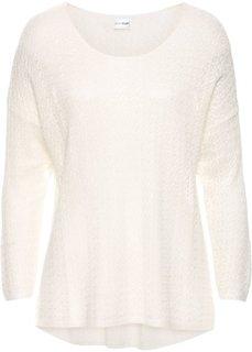 Летний пуловер (цвет белой шерсти) Bonprix