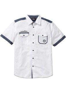 Рубашка Regular Fit с коротким рукавом (белый) Bonprix