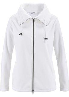Флисовая куртка (белый) Bonprix
