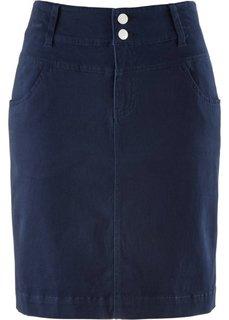Юбка стретч (темно-синий) Bonprix
