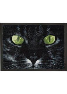 Коврик для двери Кошка (черный) Bonprix