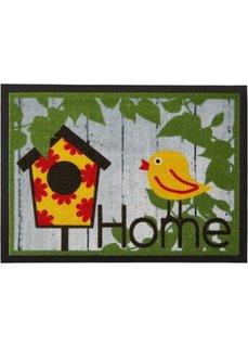 Коврик для двери Птичка (зеленый) Bonprix